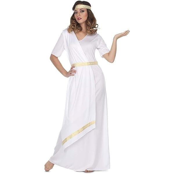 My Other Me Disfraz de Emperatriz Romana Blanca para Mujer: Amazon ...