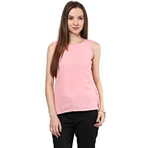 Top In Pink Color With Back Slit