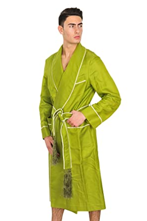 Tom Ford Robe Men Mint green Cotton Plain  Amazon.co.uk  Clothing 369517b49542