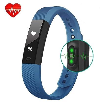 AIMIUVEI Pulsera Actividad Inteligente Monitor de Ritmo Cardíaco Reloj Inteligente Mujer y Hombre,Impermeable 67