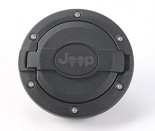Bestmotoring For Jeep Wrangler Gas Tank Cap Fuel Filler Door Cover For Jeep Wrangler 2007-2017 Model 2 1pcs