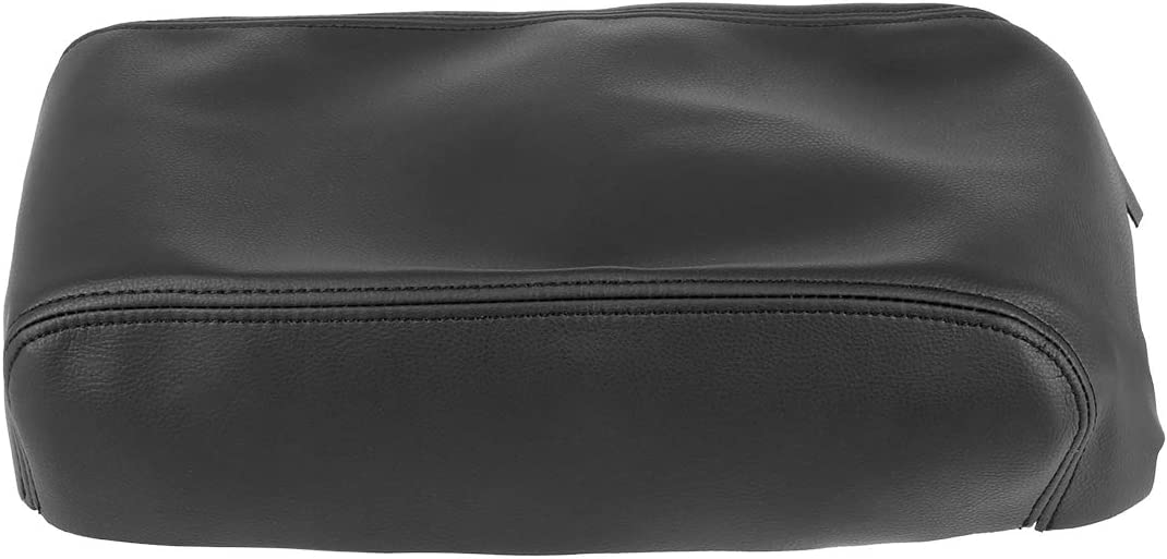 X AUTOHAUX Center Console Lid Armrest Cover for Nissan Maxima 2009-2014 Pad Replacement Microfiber Leather Black