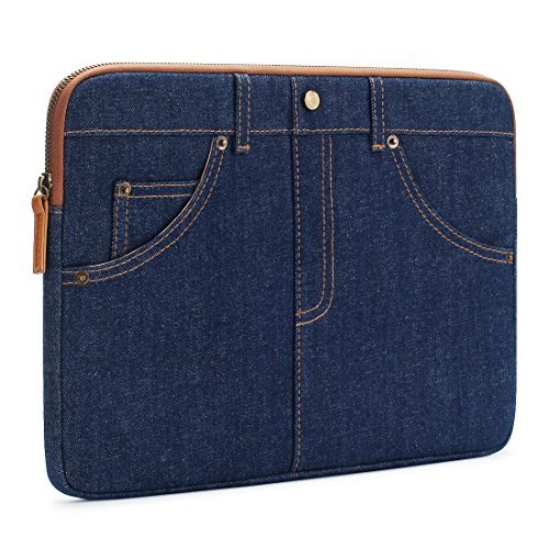DOMISO 15.6 Inch Laptop sleeve Case Unique 5-Pockets Jeans Computer Bag Tablet Pouch Skin Cover for 15.6