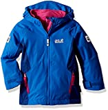 Jack Wolfskin Girls Grivla 3In1 Jacket, Coastal Blue, Size 92 (18-24 Months)