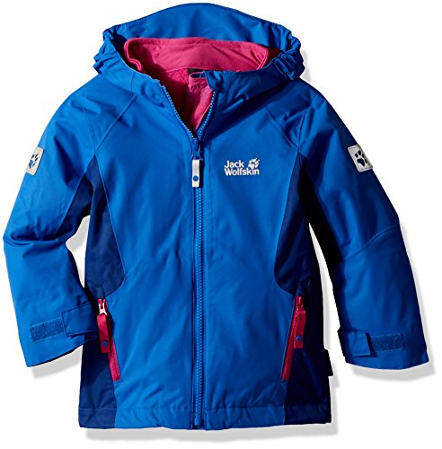 Jack Wolfskin Girls Grivla 3In1 Jacket, Coastal Blue, Size 92 (18-24 Months) by Jack Wolfskin