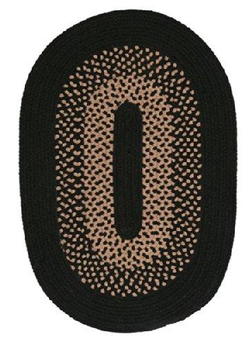 (Madison Oval Area Rug, 10 by 13-Feet, Jet Black)