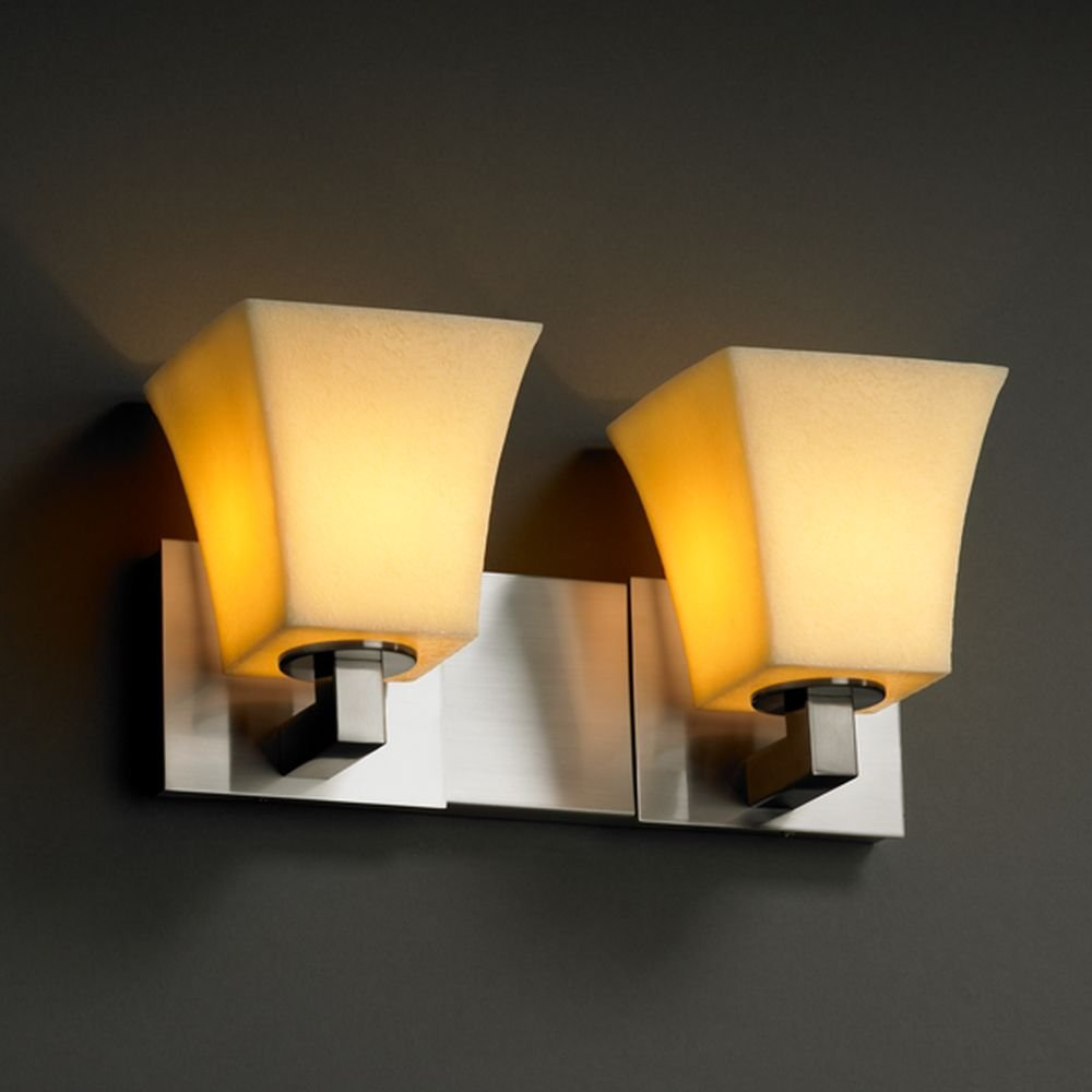 Justiceデザイングループcndl-8922 – 40-crem-nckl CandleAriaコレクションModular 2-lightバスバー B004VM46Q2