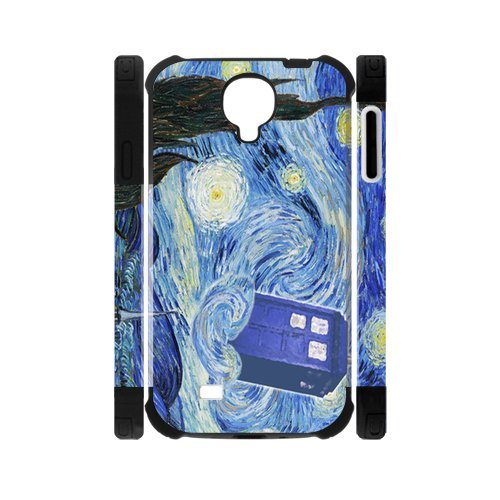 [Doctor Who Mystic Zone the Starry Night Dual-Protective Case Cover for Samsung Galaxy S4] (David Tennant Who Costume)