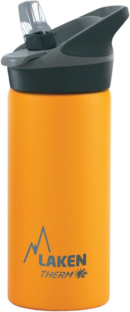 Laken Jannu Botella Térmica Acero Inoxidable 18/8 y Doble Pared de Vacío, Unisex adulto, Amarillo, 500 ml