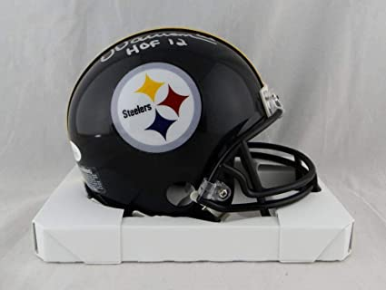 3a10de4bb Image Unavailable. Image not available for. Color  Dermontti Dawson Signed  Mini Helmet - w HOF W Auth  Silver - JSA Certified -