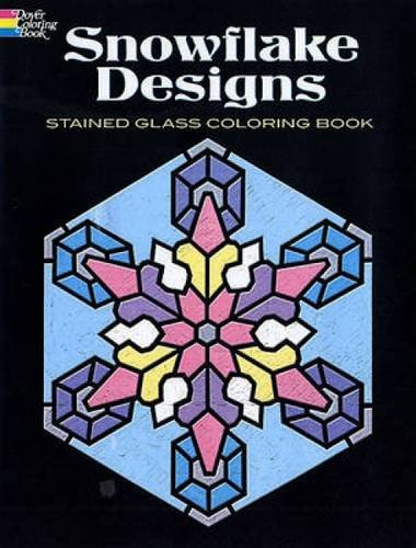Snowflake Designs Stained Glass Coloring Book (Dover Design Stained Glass Coloring (Glass Snowflake Coloring Book)