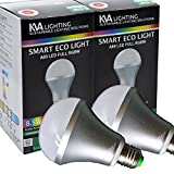 KVA LIGHTING Smart Light LED Bulb, E27 A80, 8.55W to 60W, Bright 800 Lumens, Dimmable, RGBW, Requires Gateway, Pack of 2
