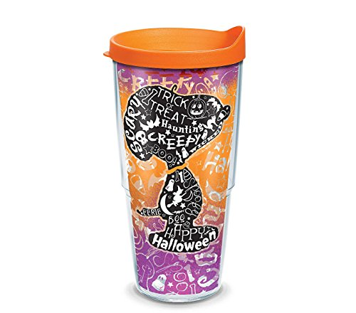 Tervis 1290781 Peanuts-Halloween Collage Insulated Tumbler, 24 oz, Clear]()