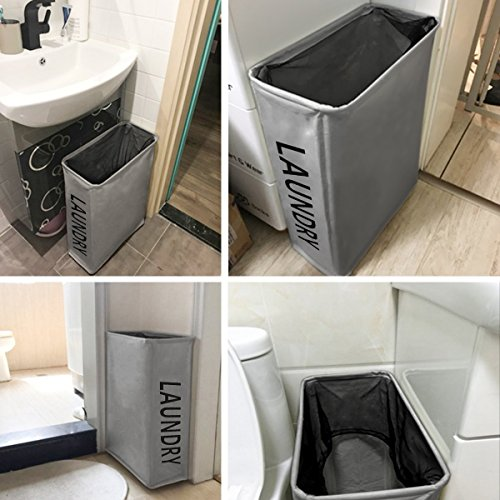 Zero Jet Lag Rolling Slim Laundry Hamper With Stand