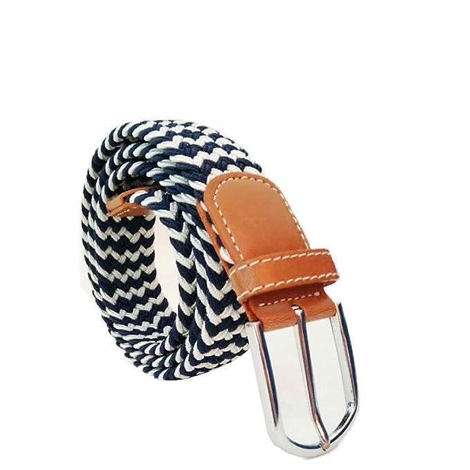 prodotti di qualità metà fuori immagini dettagliate MCYs Cintura Uomo Intrecciata,Unisex Fibbia Ad Ardiglione ...