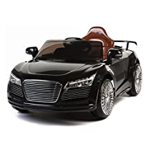 New Audi R8 Style Kids Ride on Power Wheels Battery Remote Control Toy Car - Black