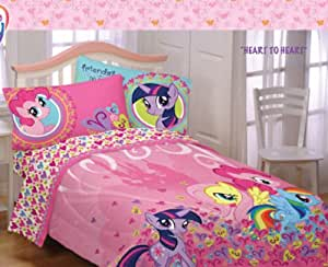 My Little Pony Twin Comforter & Sheet Set (4 Piece Bed In A Bag)