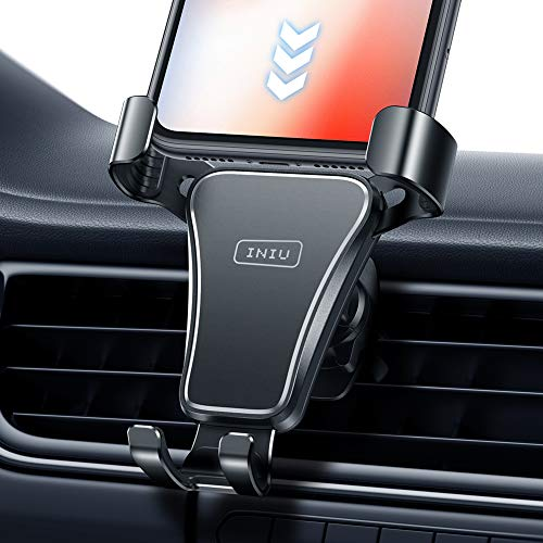 INIU Phone Holder for Car, Air Vent Car Phone Mount, 360° Universal Cell Phone Car Holder, Stand Compatible with iPhone 12 11 Pro XS Max X 8 Plus Samsung S20 S10 Note 9 HTC Huawei Oneplus LG GPS etc.