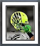 Oregon Ducks Football Helmet Spotlight Photo (Size: 12.5'' x 15.5'') Framed