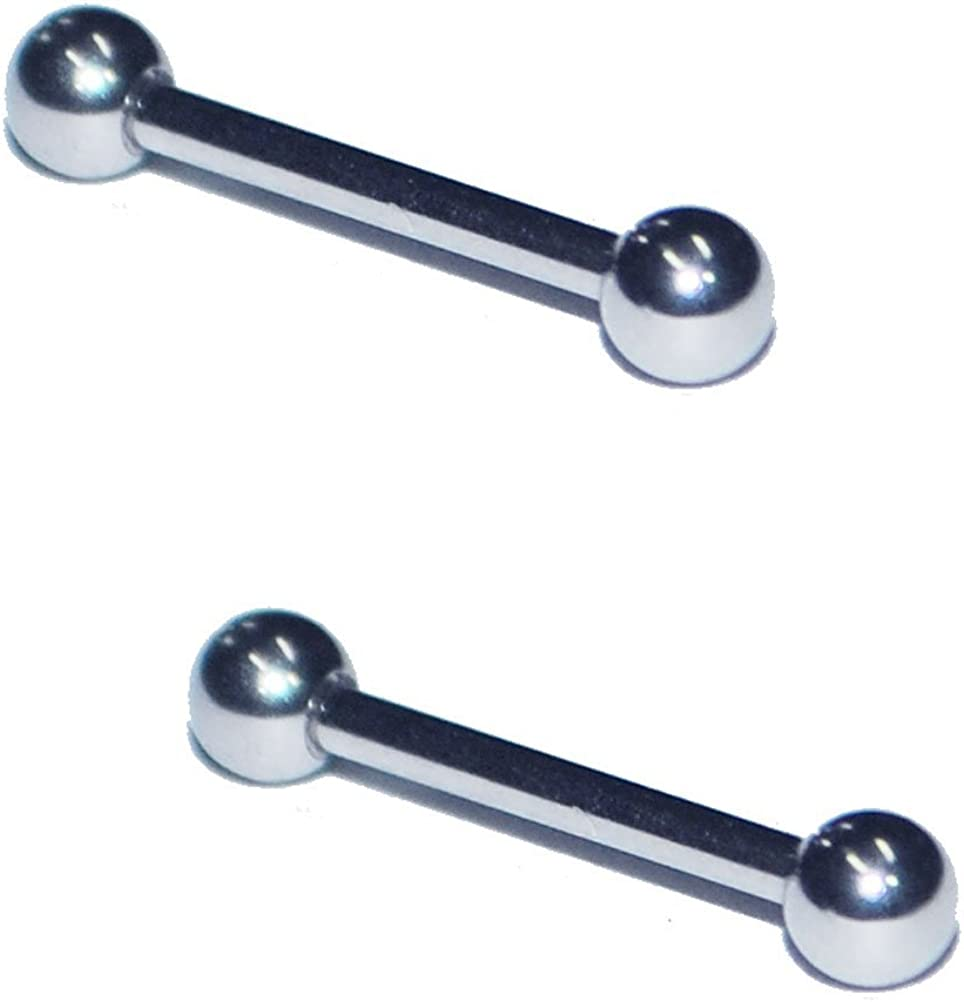 "G23 Titanium Barbell Post Tongue Ring Cartilage Tragus Nipple 16G 1//4/"" to 1-1//2/"""