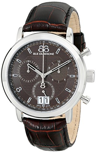 88-Rue-du-Rhone-Mens-87WA130022-Analog-Display-Swiss-Quartz-Brown-Watch