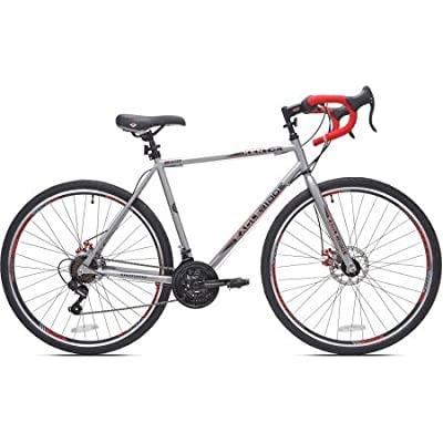 "27.5"" Kent Eagle Ridge Men's Bike Comfortable Vitesse Seat - Silver/Red"