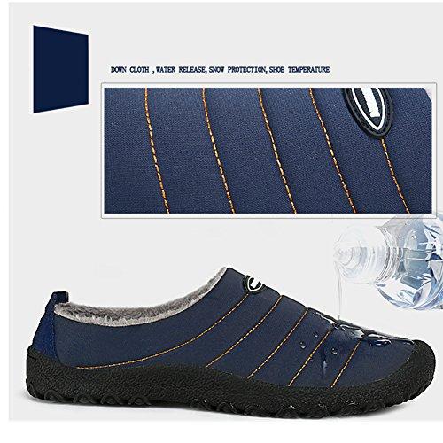 Peluche Caldo Blue Inverno Scarpe All'aperto per Uomini Neve Piatto SAGUARO Pantofole Donne Morbido Antiscivolo BwSAqq