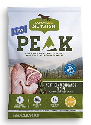 Rachael Ray Nutrish PEAK Natural Grain Free Dry Dog Food, Northern Woodlands Recipe with Turkey, Duck & Quail, 12 - Mall Woodlands