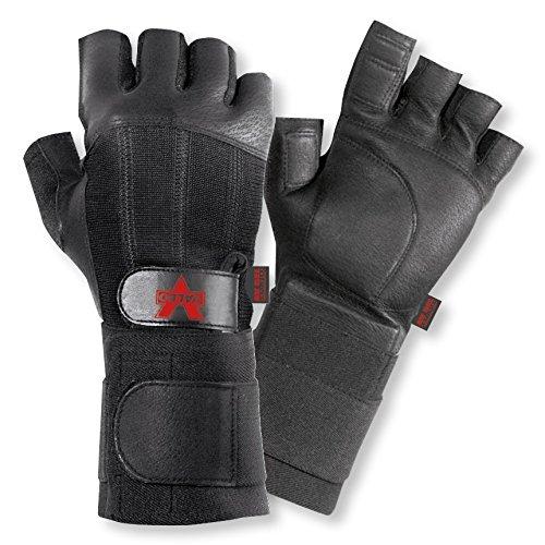 Valeo Black Pro Fingerless Full Premium Leather Anti-Vibe Gl