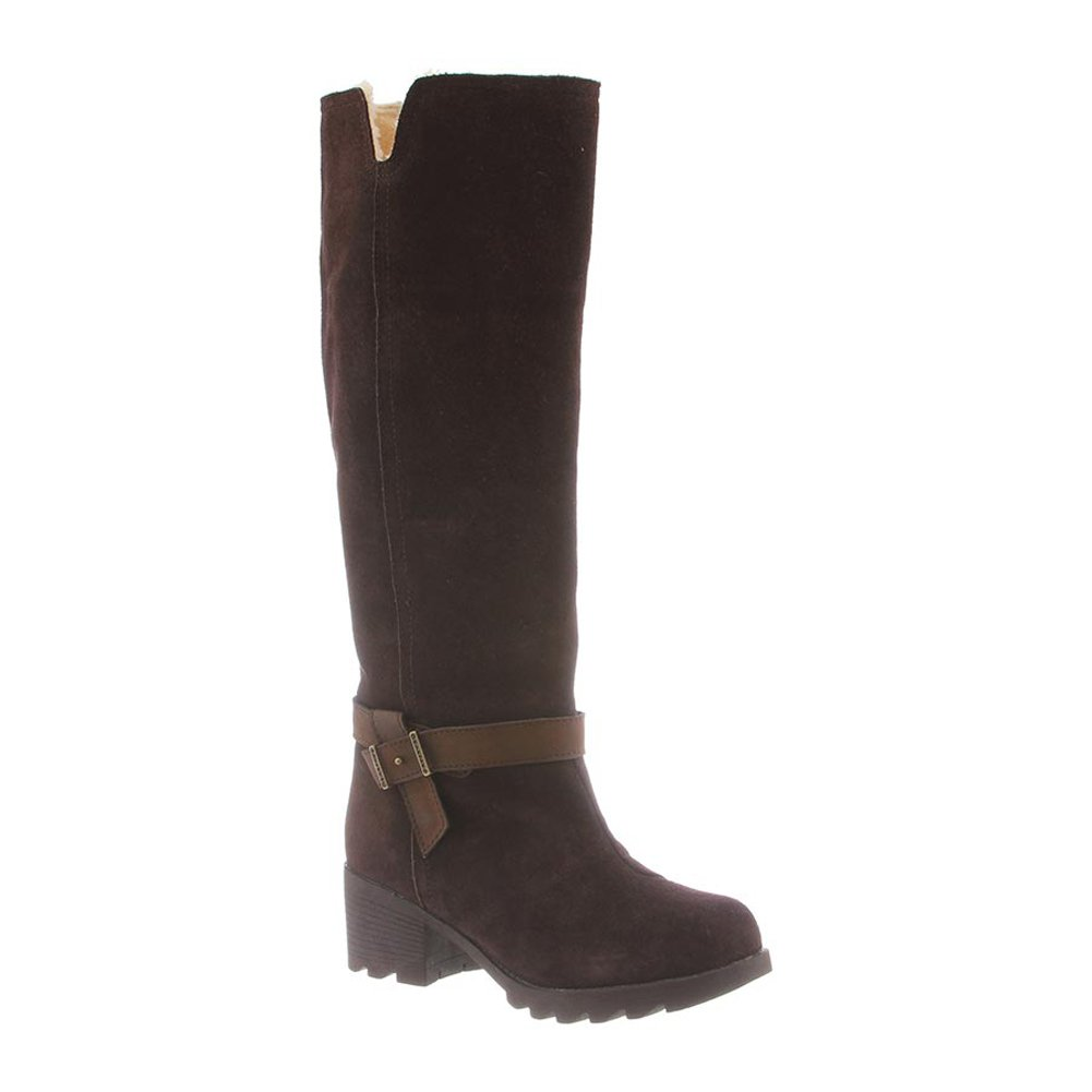 Bearpaw Women's Stephanie Knee High Boot,Walnut Cow Suede,US 9.5 M