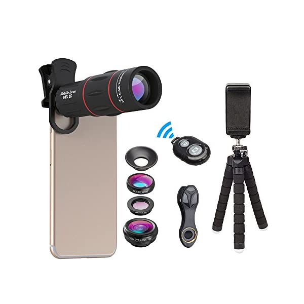 2df9ac983166e6 Apexel Phone Photography Kit-Flexible Phone Tripod +Remote Shutter + ...