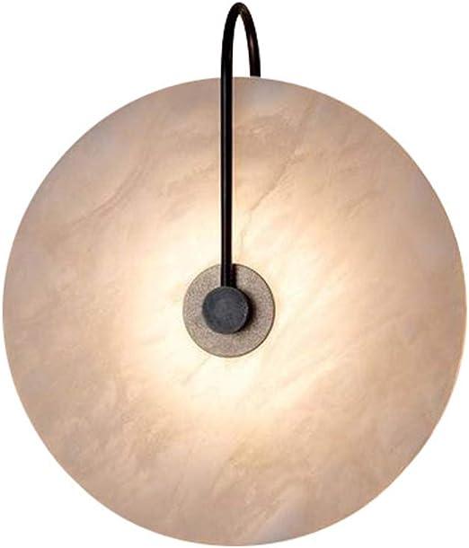 Zozmy 5W LED Interior Moderno Luz De Pared Disco Mármol Pantalla Lámpara De Pared Metal Negro Cuerpo Apliques De Pared Pasillo Escalera Sala Estar Dormitorio Linterna De Pared: Amazon.es: Iluminación