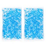 Gel Beads Hot & Cold Compress Pack – 2-Pack – Innovative Reusable Gel Bead Technology Provides Instant Heat or ice Pain Relief, Rehabilitation and Therapy. Includes 2 Packs + 2 Covers