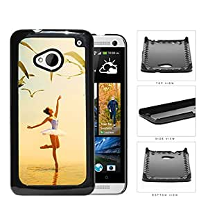 Ballerina Dancing With Pigeons Flying Hard Plastic Snap On Cell Phone Case HTC One M7