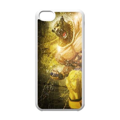 Street Fighter X Tekken Fighter Head Angry coque iPhone 5c cellulaire cas coque de téléphone cas blanche couverture de téléphone portable EEECBCAAN04112