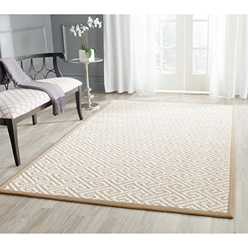 er Collection NF462A Hand Woven Natural Sisal Area Rug (4' x 6') (Flat Weave Carpet)