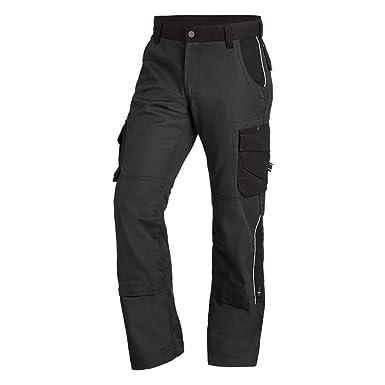 FHB Arbeitshose Twill BRUNO grau-schwarz Gr.50 Bekleidung & Schutzausrüstung