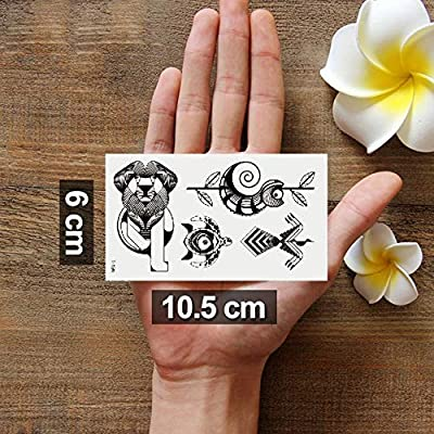 Oottati 2 Hojas Pequeño Lindo Tatuaje Temporal Tattoo Totem León ...