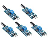 WINGONEER 5PCS High Sensitive vibration sensor module SW-18010P alarm sensor module