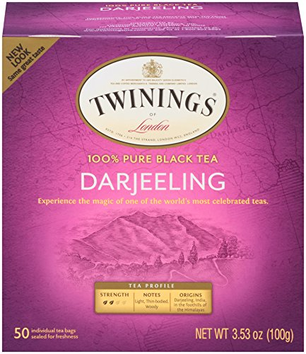 Twinings of London Darjeeling Tea Bags, 50 Count (Pack of 6)