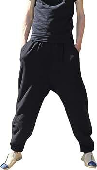 YiYLuuneo Pantalones De AlgodóN Y De Lino De La Moda Pantalones ...