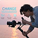 FeiyuTech AK4500 DSLR Camera Stabilizer, The Godzilla Gimbal, Payload 4.6 KG for Sony Canon Panasonic Nikon, Detachable Design, Lock Button, LCD Touch Screen Include Motion Controller 8