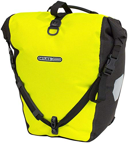 Ortlieb Back-Roller High-Visibilty Pannier - Single Neon Yellow/Black Reflex, One Size -  F5504