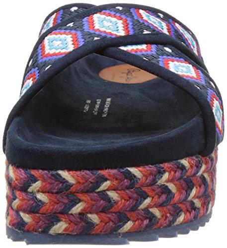 Pepe Jeans London Rodeo Salted, Sandalias Para Mujer Azul (SAILOR)