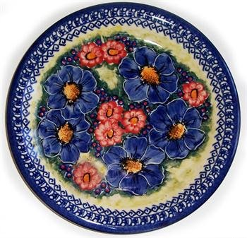 """Polish Pottery Dinner Plate Serving Plate Unikat Eva's Collection """"Isabelle"""""""