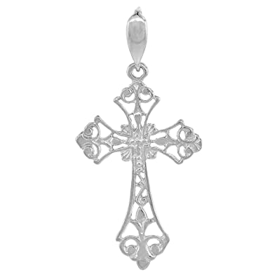 Amazon sterling silver filigree cross pendant 1 38 inch sterling silver filigree cross pendant 1 38 inch aloadofball Image collections