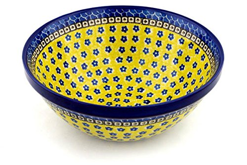 Polish Pottery Bowl 9-inch Sunburst Daisies ()