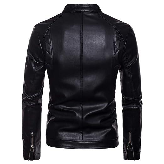 kemilove Men Fashion PU Leather Blazer Jacket Tailored Collar Zip Jacket at Amazon Mens Clothing store: