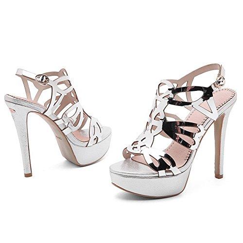 silver Argento Ballerine An 35 Donna Eu v0tvqwna