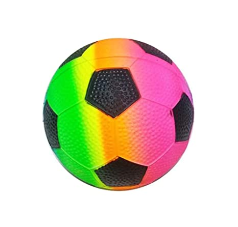 Bola inflable del niño Juega baloncesto elástico de la bola   fútbol- Colorido 2f47515c7fcbf